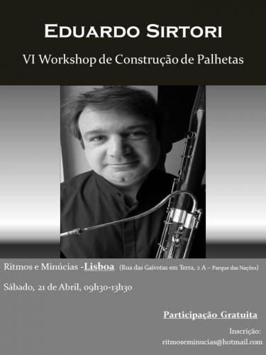 VI Workshop de Palhetas - Abril 2018